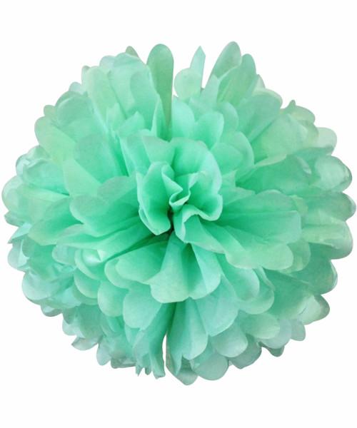 Paper Flower Pom Poms (25cm) - Mint