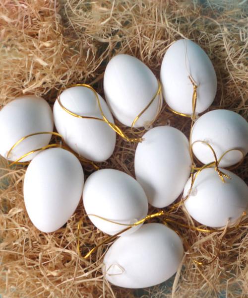 [Easter Blessings] Big Artificial Decorative Eggs 6cmx8cm (10 pcs/Set) - White