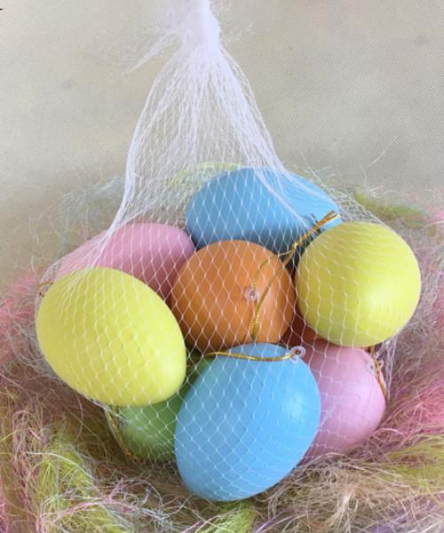 [Easter Blessings] Big Artificial Decorative Eggs 6cmx8cm (10 pcs/Set) - Colorful