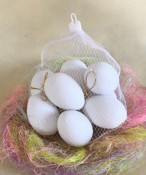 [Easter Blessings] Small Artificial Decorative Eggs 4cmx6cm (20 pcs/Set) - White