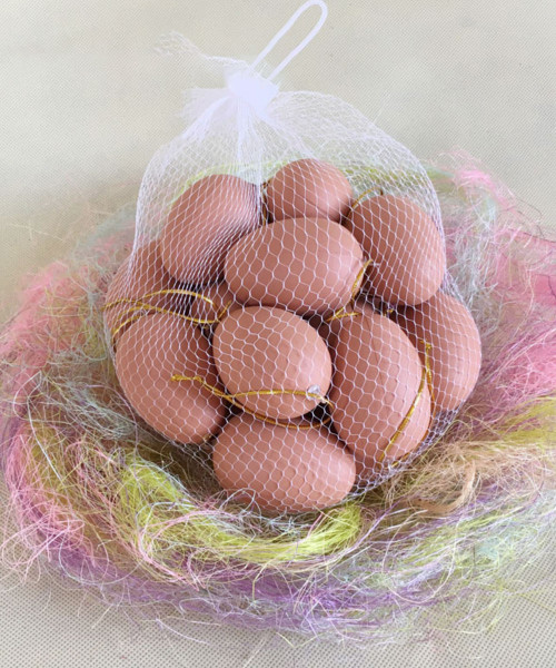 [Easter Blessings] Small Artificial Decorative Eggs 4cmx6cm (20 pcs/Set) - Natural Brown