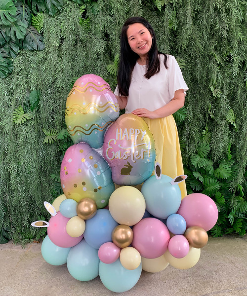 [Easter Blessings] Blessed Easter Balloon Centerpiece - Whimsical Bunnies