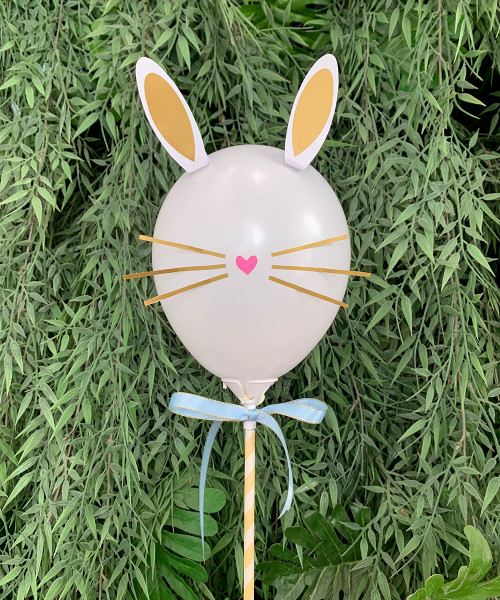 [Easter Blessings] Bunny Balloon on Stick (5inch) - Spring Easter Bunny