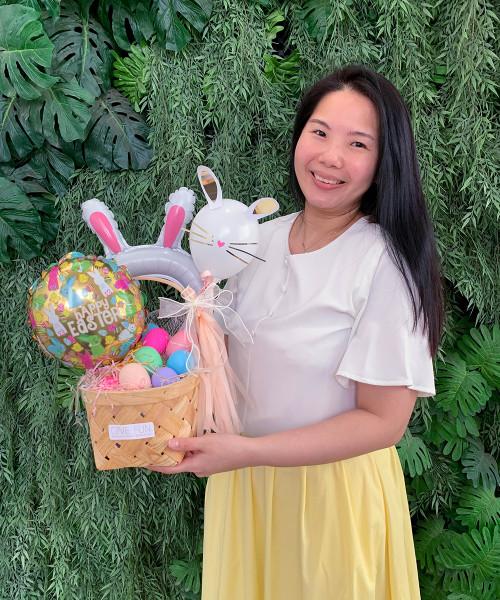 [Easter Blessings] Spring Easter Gift Basket - Egg-stra Cute Bunny