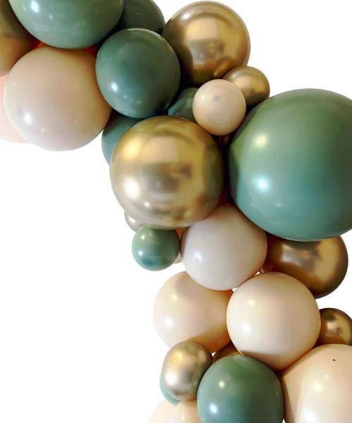 Create Your Own Chalk Matte + Chrome Organic Balloon Garland