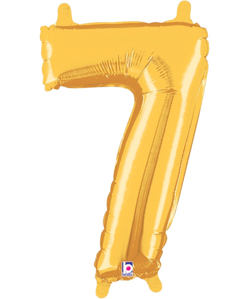 "14"" Small Number Foil Balloon (Gold) - Number '7' (B34847G)"