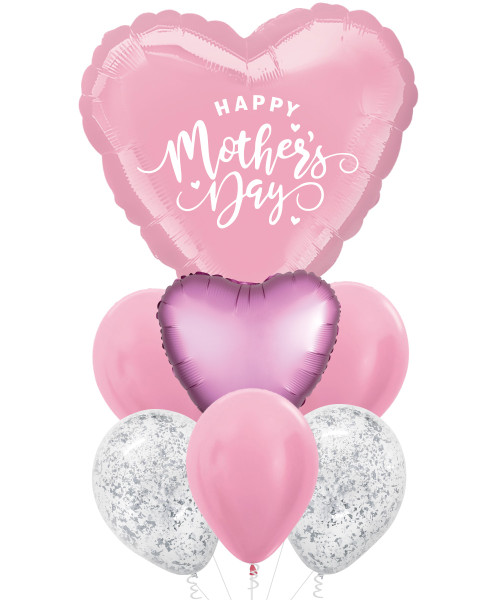 "[You're Amazing] 32"" Personalised Giant Heart Foil Balloons Bouquet - Happy Mother's Day"