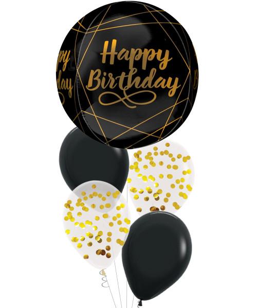 "[Party] 16""/40cm Elegant Birthday Orbz Sphere Shaped Confetti Balloons Bouquet"