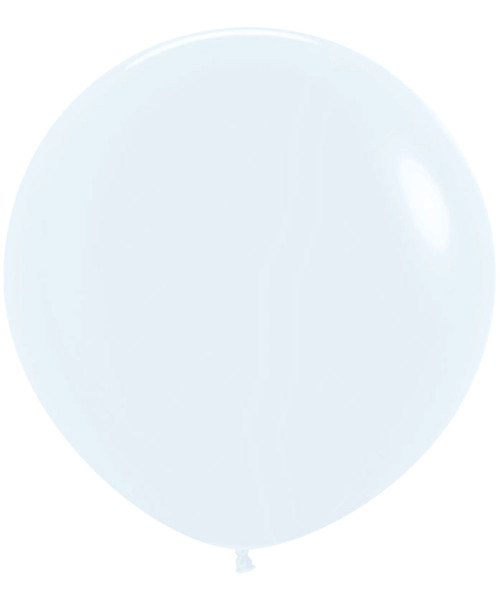 "18"" Fashion Color Round Latex Balloon - White"