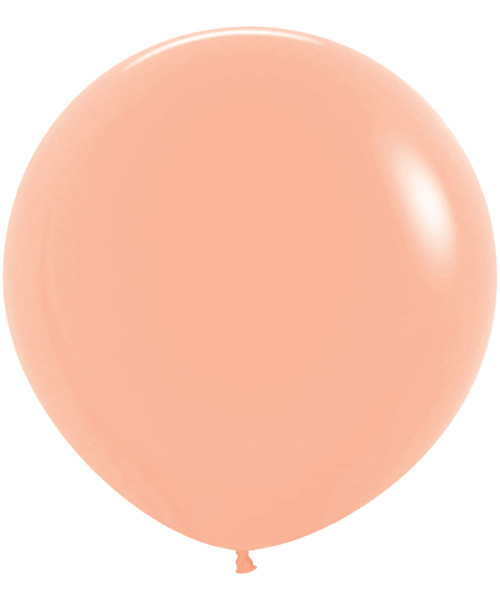 "18"" Fashion Color Round Latex Balloon - Peach Blush"