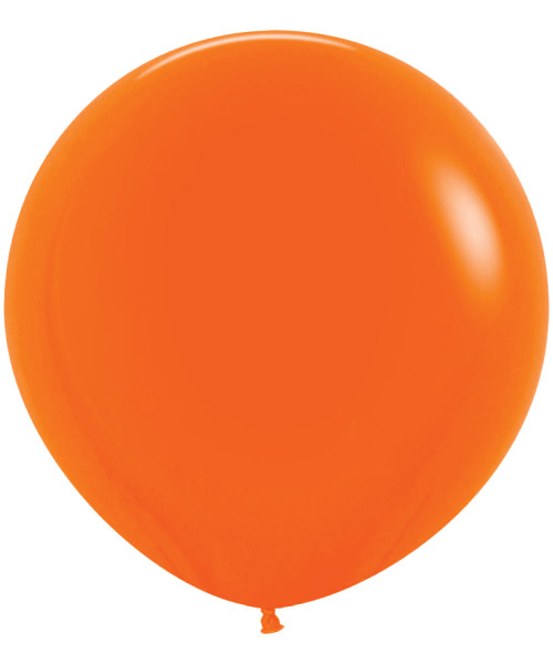 "18"" Fashion Color Round Latex Balloon - Orange"