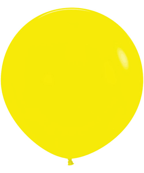 "18"" Fashion Color Round Latex Balloon - Yellow"