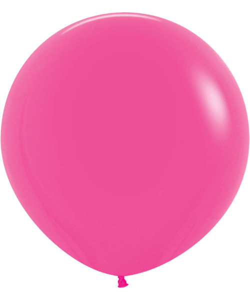 "18"" Fashion Color Round Latex Balloon - Fuschia"