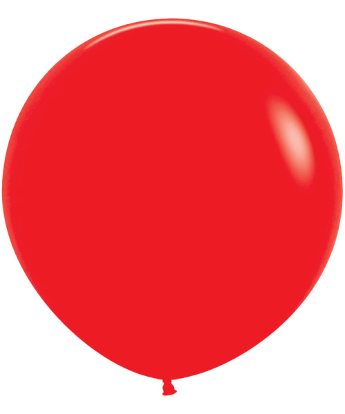 "18"" Fashion Color Round Latex Balloon - Red"