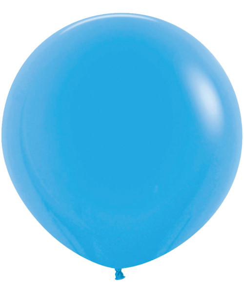 "18"" Fashion Color Round Latex Balloon - Blue"