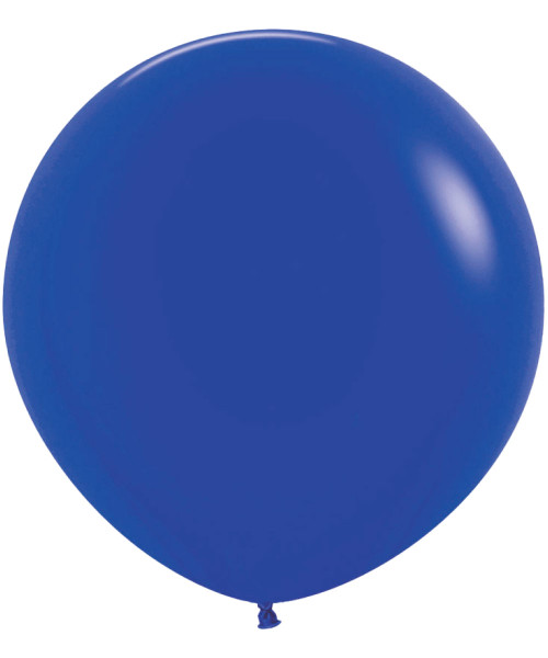 "18"" Fashion Color Round Latex Balloon - Royal Blue"