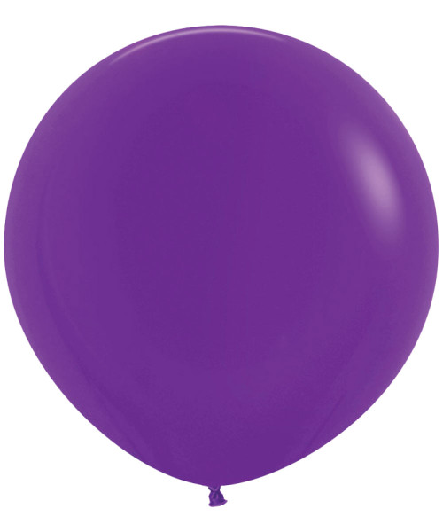 "18"" Fashion Color Round Latex Balloon - Violet"