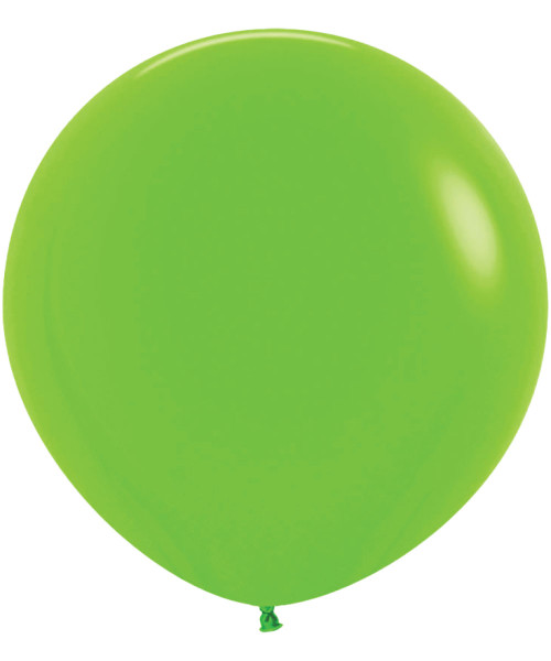 "18"" Fashion Color Round Latex Balloon - Lime Green"
