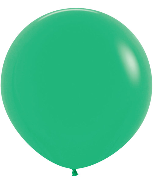 "18"" Fashion Color Round Latex Balloon - Green"