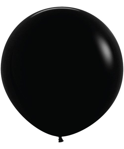 "18"" Fashion Color Round Latex Balloon - Black"