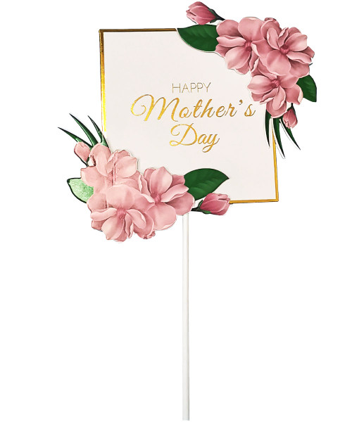 Happy Mother's Day Cake Topper - Sakura Tea Pink