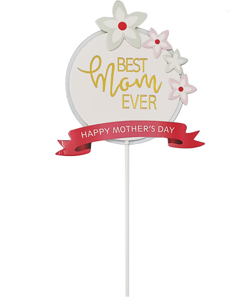 [You're Amazing] Best Mom Ever Cake Topper - Classic Floral