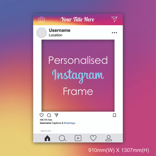 Personalized Instagram Frame - Giant size