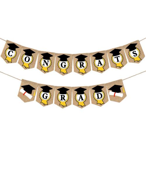 [Graduation] Premium Congrats Grad Fabric Bunting (2meter)