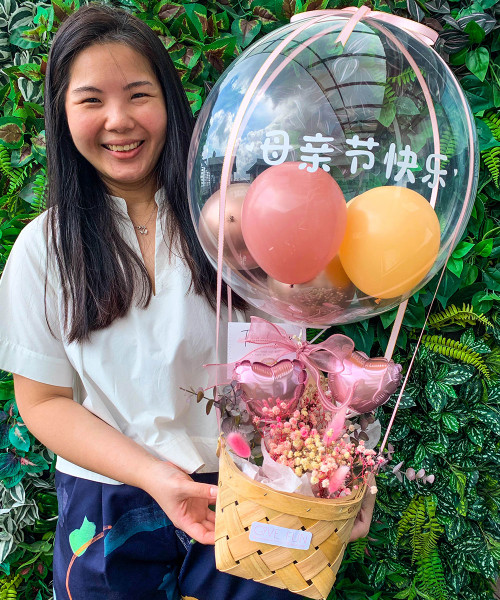[You're Amazing] 母情节快乐 Balloons Bouquet Basket (In-The-Air Series) - Sierra