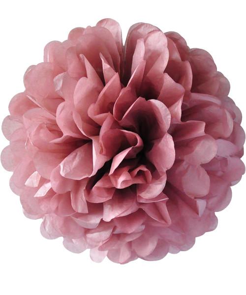 Paper Flower Pom Pom DIY Pack (25cm) - Rose Tea