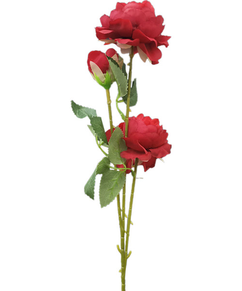 Artificial Peony Flowers - Red