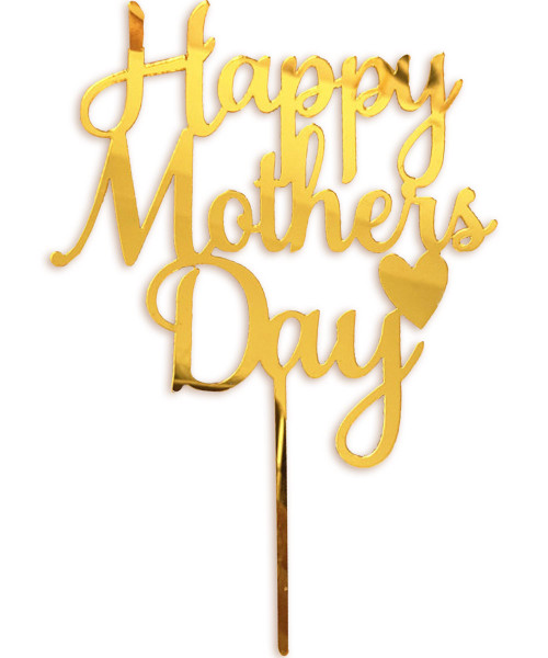 [You're Amazing] Happy Mother's Day ❤ Cake Topper - Reflective Gold