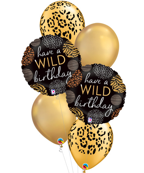 [Party] Wild Birthday Leopard Spots Balloons Bouquet