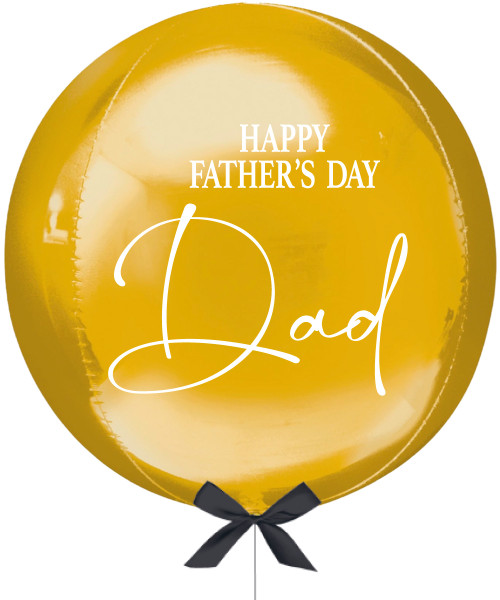 """[Dad, You Rock!] Personalised 16""""/41cm Sphere Shaped Balloon (Gold) - Happy Father's Day Dad"""