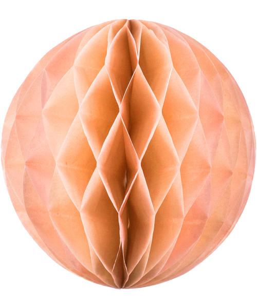 Paper Honeycomb Balls (25cm) - Peach