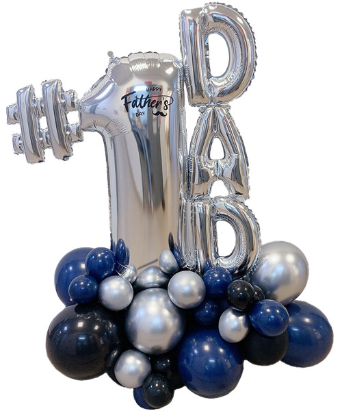 [Dad, You Rock!] #1 DAD Happy Father's Day Balloon Centerpiece