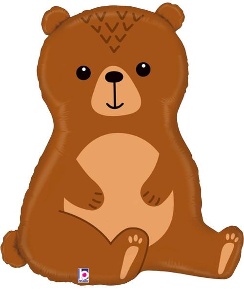 [Animal] Woodland Bear Foil Balloon (34inch) (B35976)