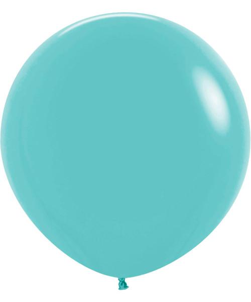 "24"" Fashion Color Round Latex Balloon - Aquamarine"