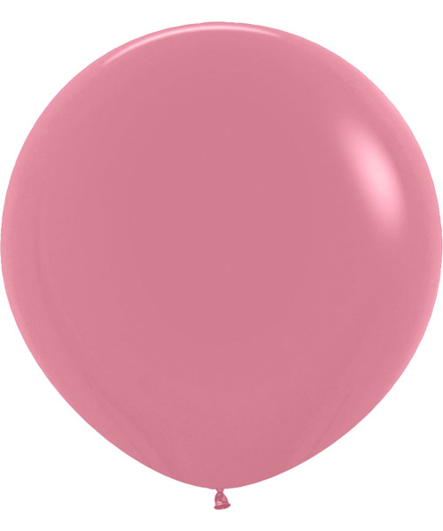 """24"""" Fashion Color Round Latex Balloon - Rosewood"""