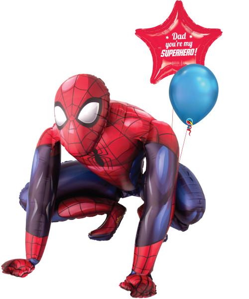 [Superhero] Dad You're My Superhero Spider Man Jumbo  Airwalker Balloon Set