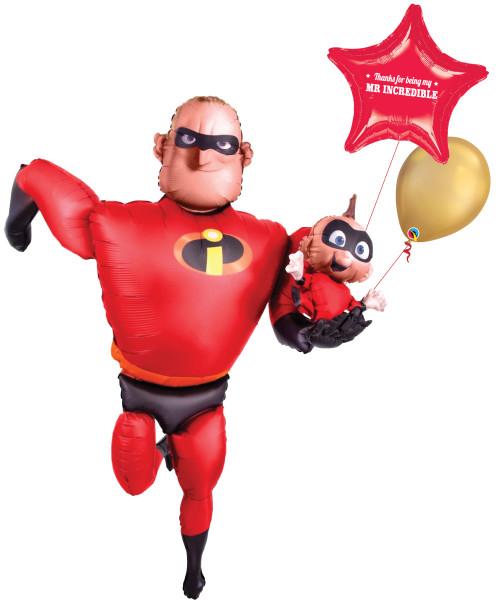[Superhero] Thanks for being my Mr Incredible Jumbo  Airwalker Balloon Set