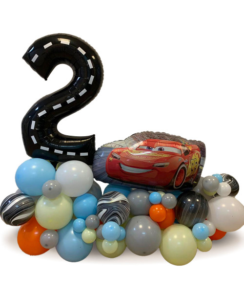 [Cars] Create Your Own Cars Lightning McQueen Happy Birthday Number Balloons Centerpiece