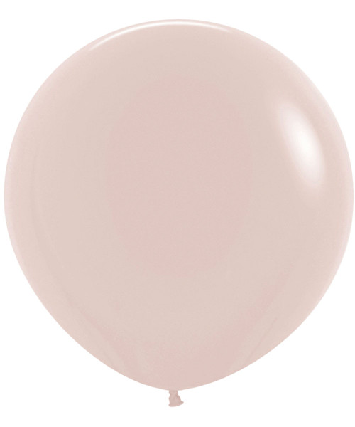"24"" Fashion Color Round Latex Balloon - White Sand"