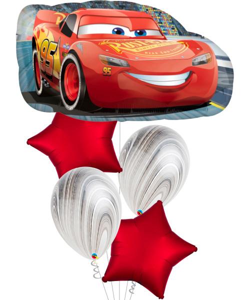 [Cars] Lightning McQueen Balloons Bouquet