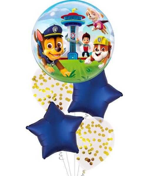 [Paw Patrol] Paw Patrol Confetti Bubble Balloons Bouquet