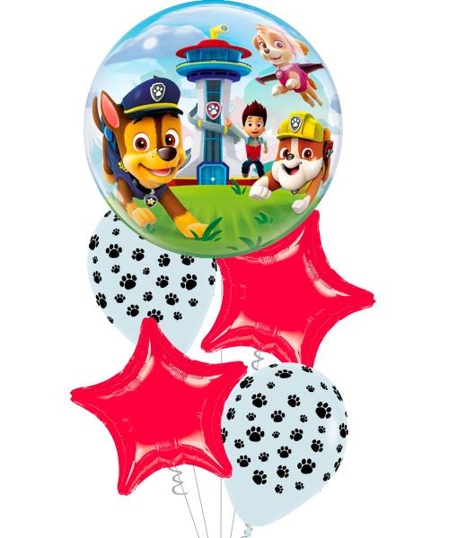 [Paw Patrol] Paw Patrol Star Bubble Balloons Bouquet