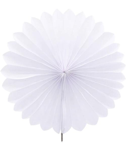 Paper Flower Fan (25cm) - White