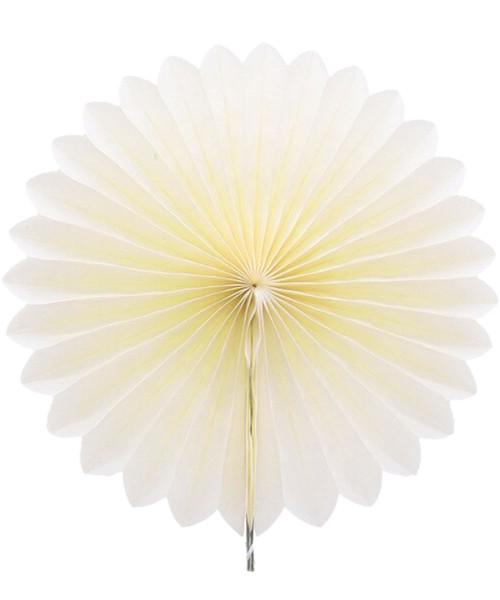 Paper Flower Fan (25cm) - Cream