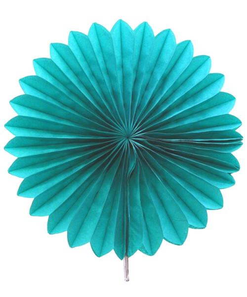 Paper Flower Fan (25cm) - Turquoise