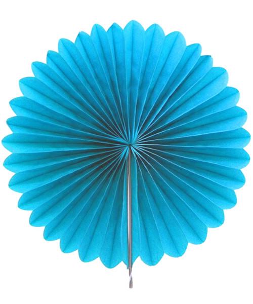 Paper Flower Fan (25cm) - Sky Blue